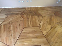 Engineered oak wood flooring