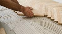 Laying Wood in a Herringbone pattern