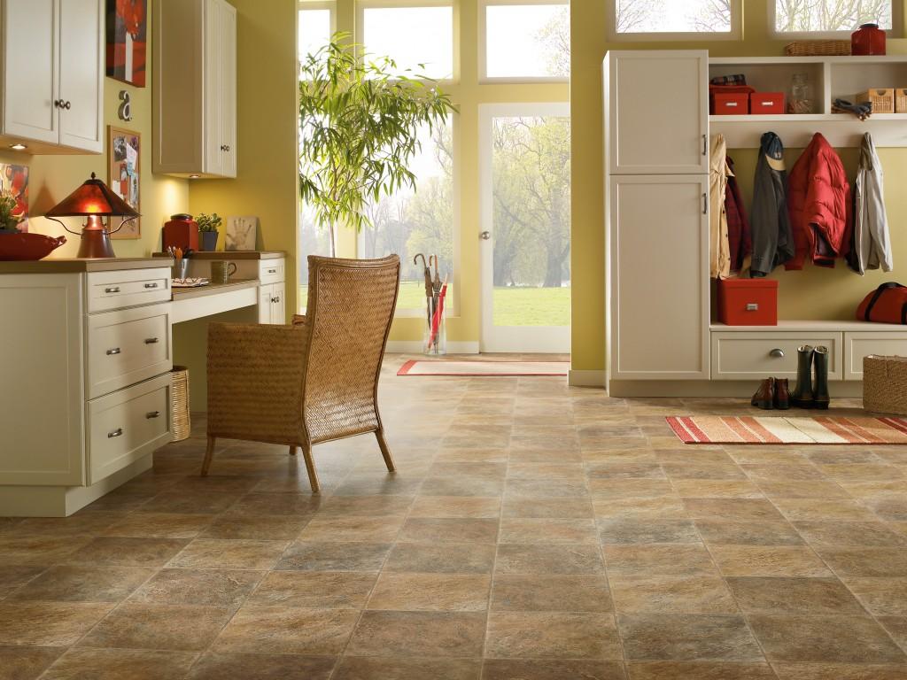 Floor vinyl tile